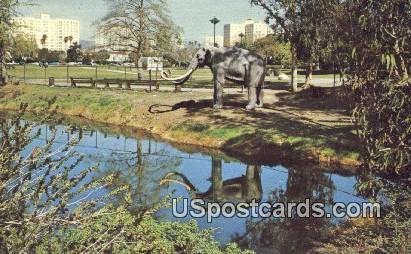 Labrea Tar Pits - Los Angeles, California CA Postcard