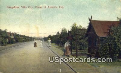 Bungalows, Villa City - Venice of America, California CA Postcard