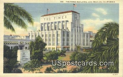 Times Building - Los Angeles, California CA Postcard