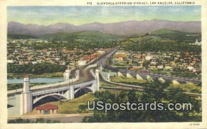 Glendale Hyperion Viaduct - Los Angeles, California CA Postcard