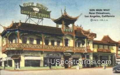 Sun Mun Way - Los Angeles, California CA Postcard