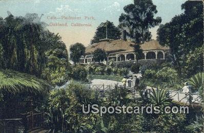 Cafª Piedement Park - Oakland, California CA Postcard