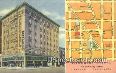 Touraine Hotel - Oakland, California CA Postcard