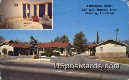 Approved Motel - Banning, California CA Postcard