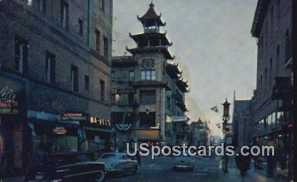 China Town - Los Angeles, California CA Postcard