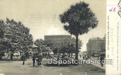City Hall Square - Oakland, California CA Postcard