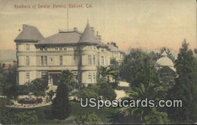 Residence of Senator Perkins - Oakland, California CA Postcard