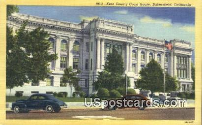 Kern County Court House - Bakersfield, California CA Postcard
