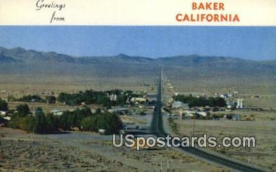 Baker, CA Postcard       ;       Baker, California