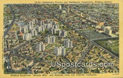 Parkalbrea Towers & Residential Community - Los Angeles, California CA Postcard