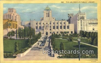 Los Angeles Public Library - California CA Postcard