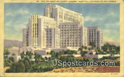 Los Angeles County General Hospital - California CA Postcard