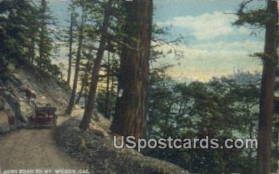 Auto Road - Mt. Wilson, California CA Postcard