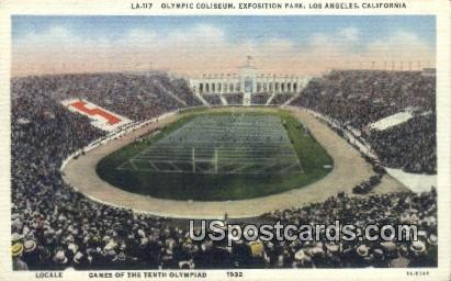 Olympic Coliseum, Exposition Park - Los Angeles, California CA Postcard