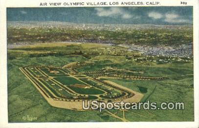 Olympic Village - Los Angeles, California CA Postcard