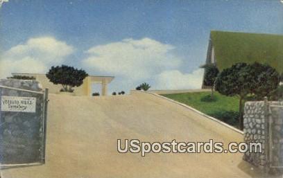 Verdugo Hills Cemetery - Los Angeles, California CA Postcard