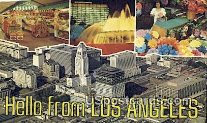 Farmer's Market - Los Angeles, California CA Postcard