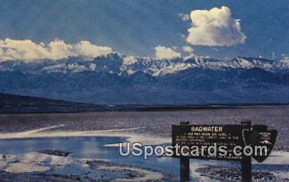 Bad Water - Death Valley, California CA Postcard