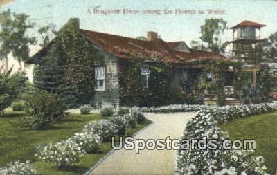Bungalow Home - MIsc, California CA Postcard