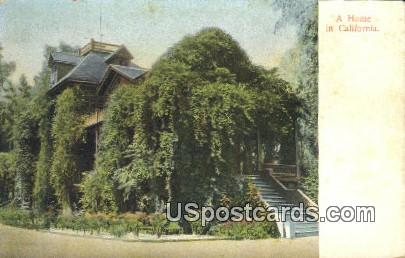 A Home - MIsc, California CA Postcard