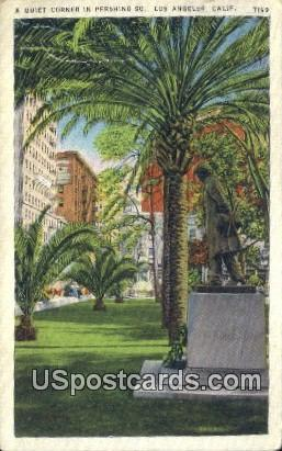 Quiet Corner, Pershing - Los Angeles, California CA Postcard