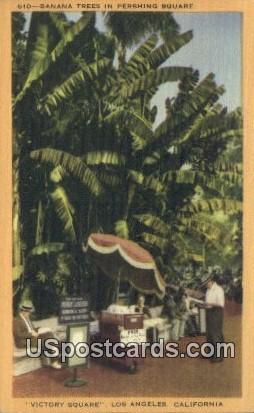 Banana Trees, Pershing Square - Los Angeles, California CA Postcard
