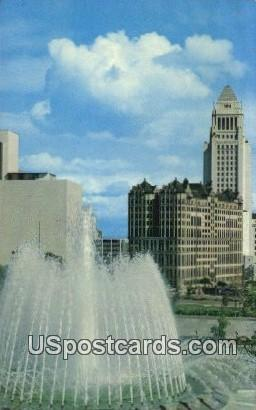Los Angeles Civic Center Mall - California CA Postcard