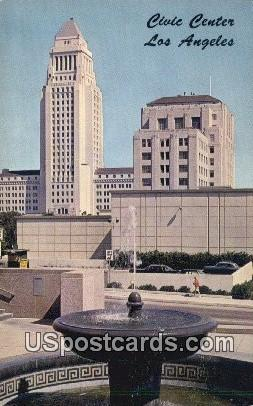 Civic Center - Los Angeles, California CA Postcard