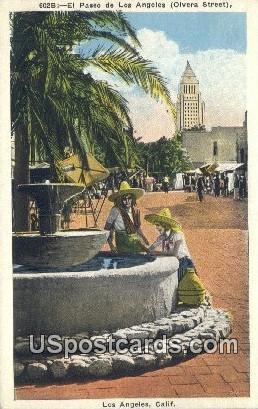 El Paseo de Los Angeles, Olvera Street - California CA Postcard