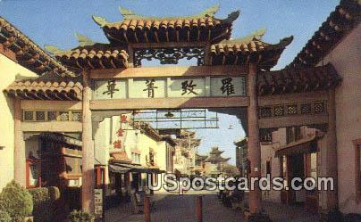 Chinatown - Los Angeles, California CA Postcard
