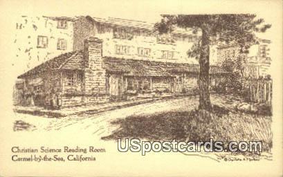 Christian Science Reading Room - Carmel by the Sea, California CA Postcard