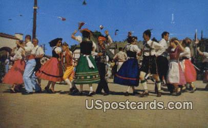 Danish Days Fete - Solvang, California CA Postcard