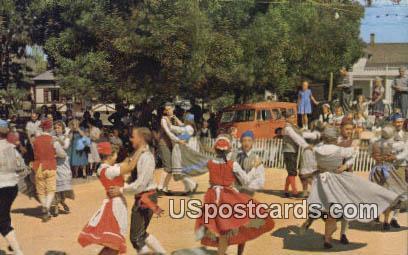 Solvang Danish Folk Dancers - California CA Postcard