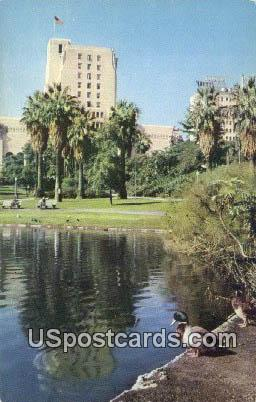 Elks Club, General Douglas Mac Arthur Park - Los Angeles, California CA Postcard