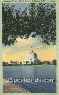 Alameda County Court House - Oakland, California CA Postcard