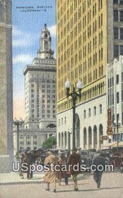 Downtown - Oakland, California CA Postcard
