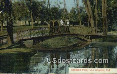 Eastlake Park - Los Angeles, California CA Postcard