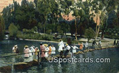 Stepping Stones, East Lake Park - Los Angeles, California CA Postcard