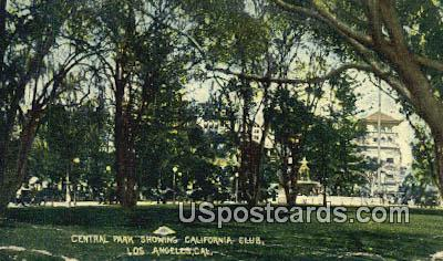 Central Park - Los Angeles, California CA Postcard