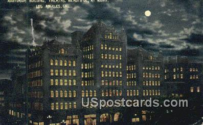 Auditorium Building, Theatre - Los Angeles, California CA Postcard