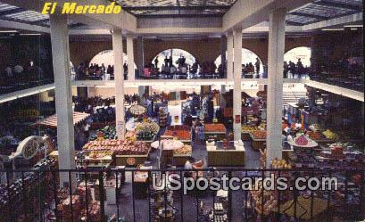El Mercado - Los Angeles, California CA Postcard