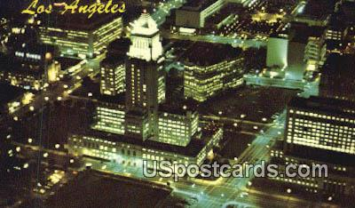 Civic Center & City Hall - Los Angeles, California CA Postcard