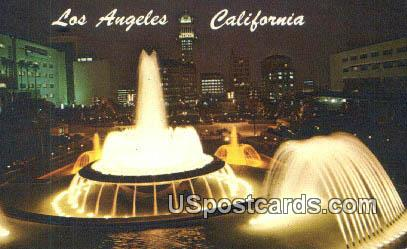 Civic Center Mall - Los Angeles, California CA Postcard