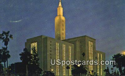 Los Angeles Temple - California CA Postcard