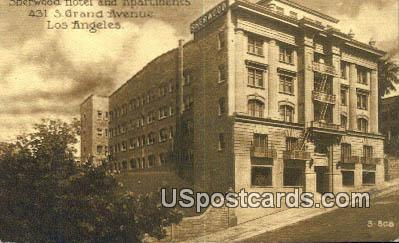 Sherwood Hotel & Apartments - Los Angeles, California CA Postcard