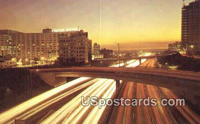 Harbor Freeway - Los Angeles, California CA Postcard