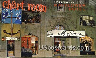 Mayflower Hotel - Los Angeles, California CA Postcard