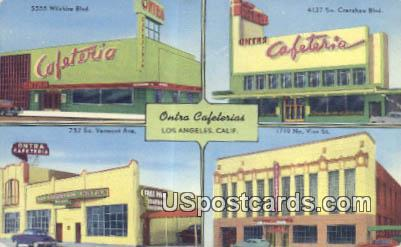 Ontra Cafeterias - Los Angeles, California CA Postcard