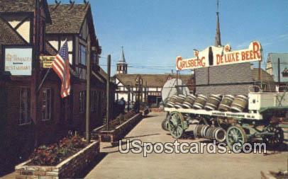 Courtyards - Solvang, California CA Postcard