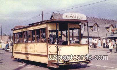 Old World Trolley - Solvang, California CA Postcard